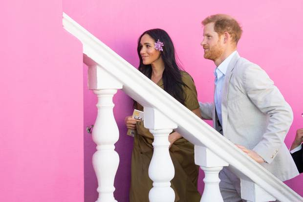 Herzogin Meghan und Prinz Harry vor der traumhaften Kulisse von Bo Kaap.