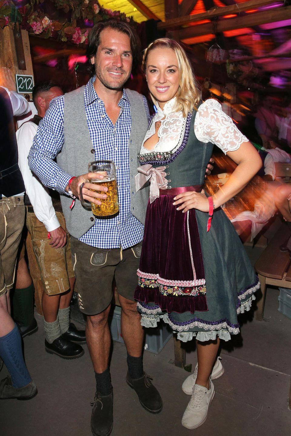 Die Tennisprofis Tommy Haas und Sabie Lisicki sind Schunkellaune.