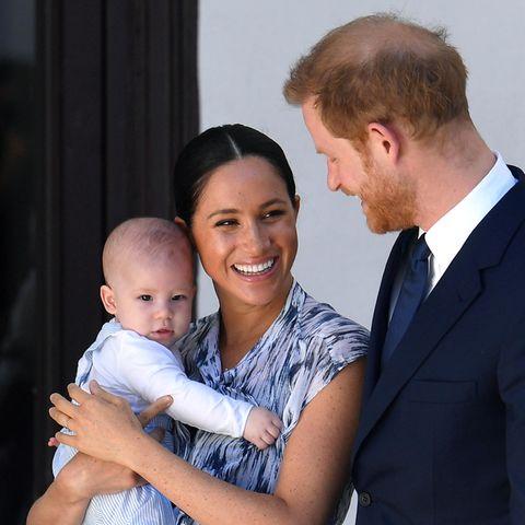 Prinz Harry, Herzogin Meghan mit Baby Archie