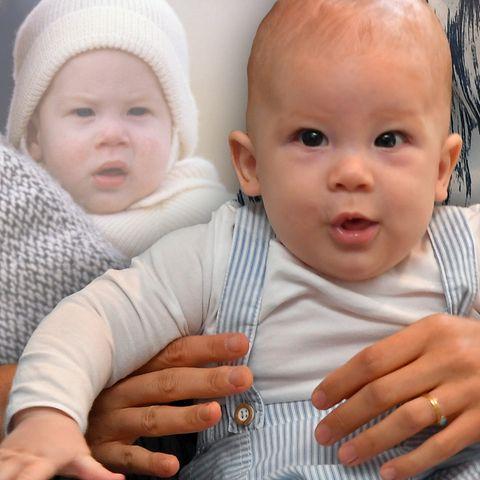 Baby Archie und Prinz Harry als Baby