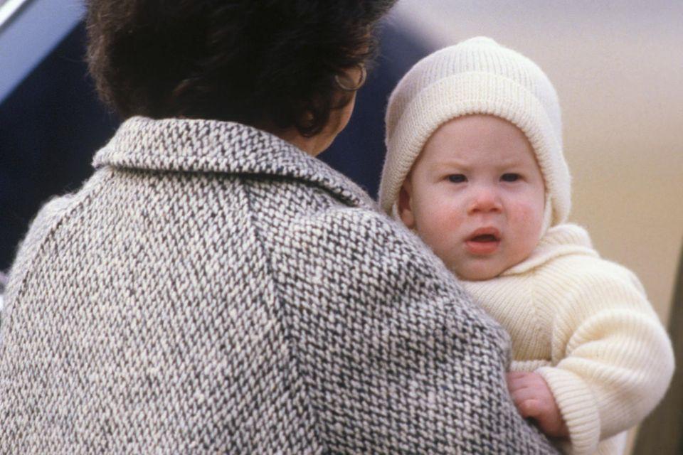 Prinz Harry im Alter von sechs Monaten, im März 1985.