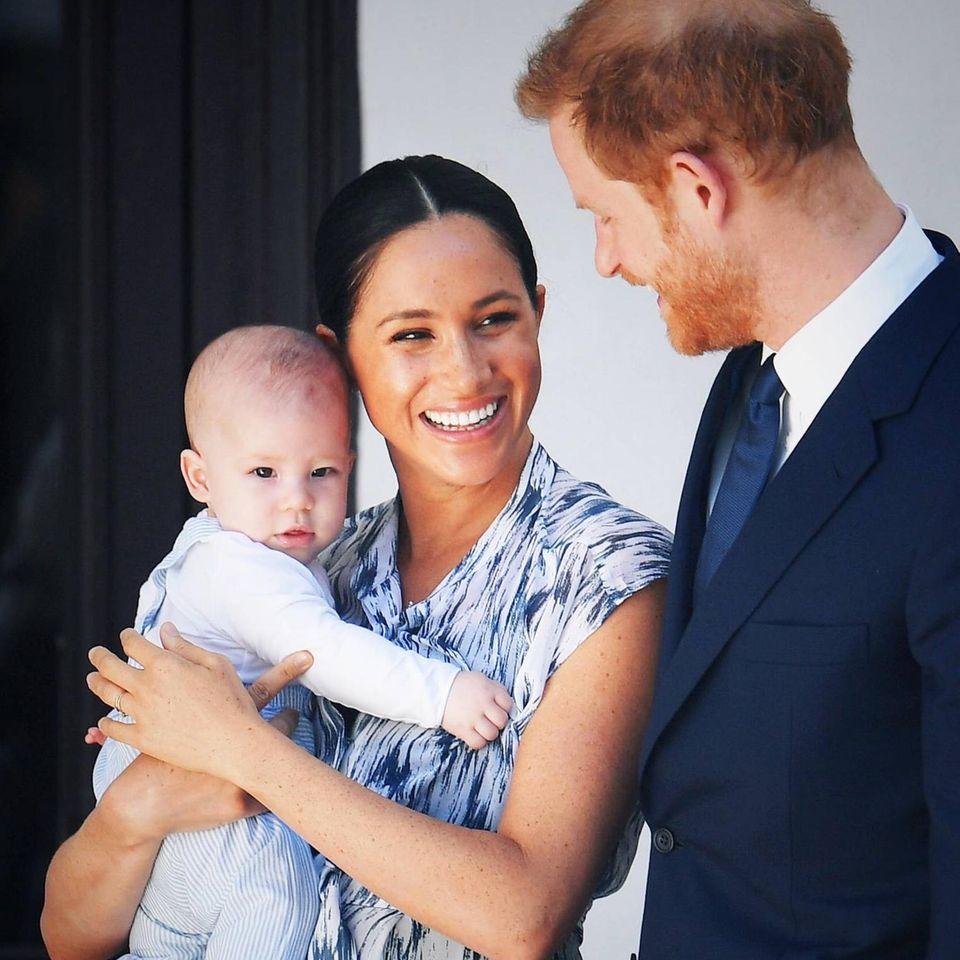 Archie Mountbatten-Windsor, Herzogin Meghan und Prinz Harry