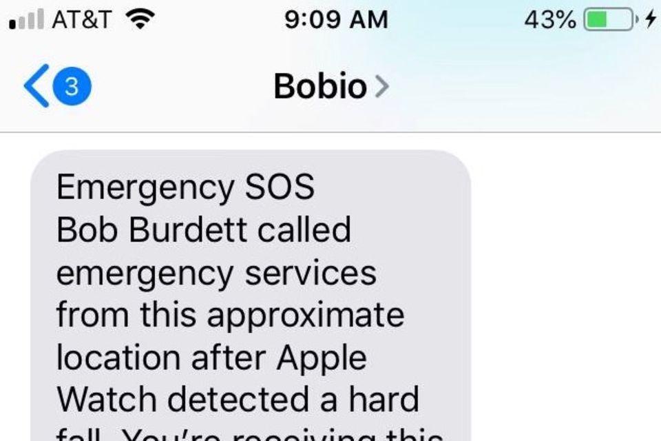 Bobs Sohn Gabe wurde automatisch über den Unfall seines Vaters informiert
