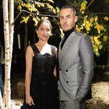 Sowohl Laetitia Casta als auch Baptiste Giabiconi waren zu Lebzeiten enge Vertraute und Musen von Karl Lagerfeld. Vor der Show von Dior feiern sie eine kleine Reunion.