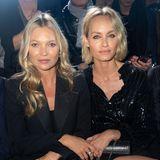 Modellegenden unter sich: Kate Moss und Amber Valletta bei Saint Laurent