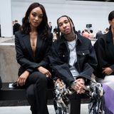 In der Front Row von Mugler nehmen so unterschiedliche Stilikonen wie Model Jourdan Dunn und Rapper Tyga Platz.