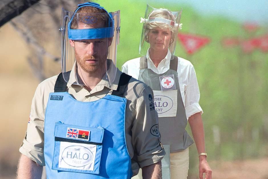 Prinz Harry auf den Spuren von Diana