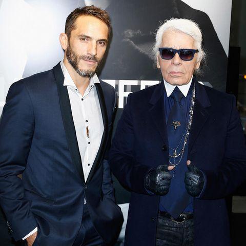 Sébastien Jondeau und Karl Lagerfeld