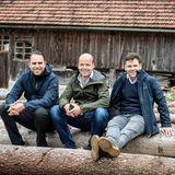 Brain, Body & Soul: Matthias Kohl (LVMH, Acqua di Parma), Horst von Buttlar (G+J) und Lewin Berner (Sioux) machen eine kurze Verschnaufpause.