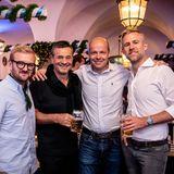 Brain, Body & Soul: Nils Hardtke (Douglas), Michael Betzelt (E.A. Cosmetics), Horst von Buttlar (G+J) und Björn Strumann (COTY) beim zünftigen Abend im Braustübl.