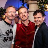 Brain, Body & Soul: Auch Marcus Luft (G+J), Nils Behrens (Lanserhof) und Lewin Berner (Sioux) sind bester Laune.