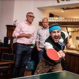Brain, Body & Soul: Jochen Schropp gibt beim anschließenden Tischtennisturnier alles.