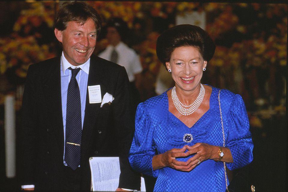 Prinzessin Margaret und Roddy Llewellyn im Mai 1989.
