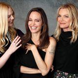 """29. September 2019  Um ihren neunen Film """"Maleficent: Mistress of Evil"""" zu promoten, kommen die Darstellerinnen Elle Fanning, Angelina Jolie und Michelle Pfeiffer in Beverly Hills für ein wunderschönes Porträt-Shooting zusammen."""