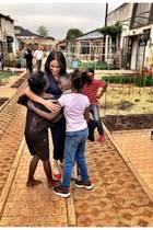 Herzogin Meghan besucht in Johannesburg die Künstlergemeinde Victoria Yards.