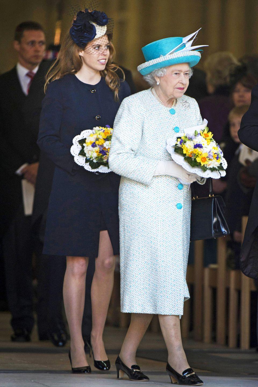 Queen Elizabeth und Prinzessin Beatrice