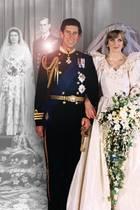Prinzessin Elizabeth und Philip, Herzog von Edingburgh, Prinz Charles mit Prinzessin Diana