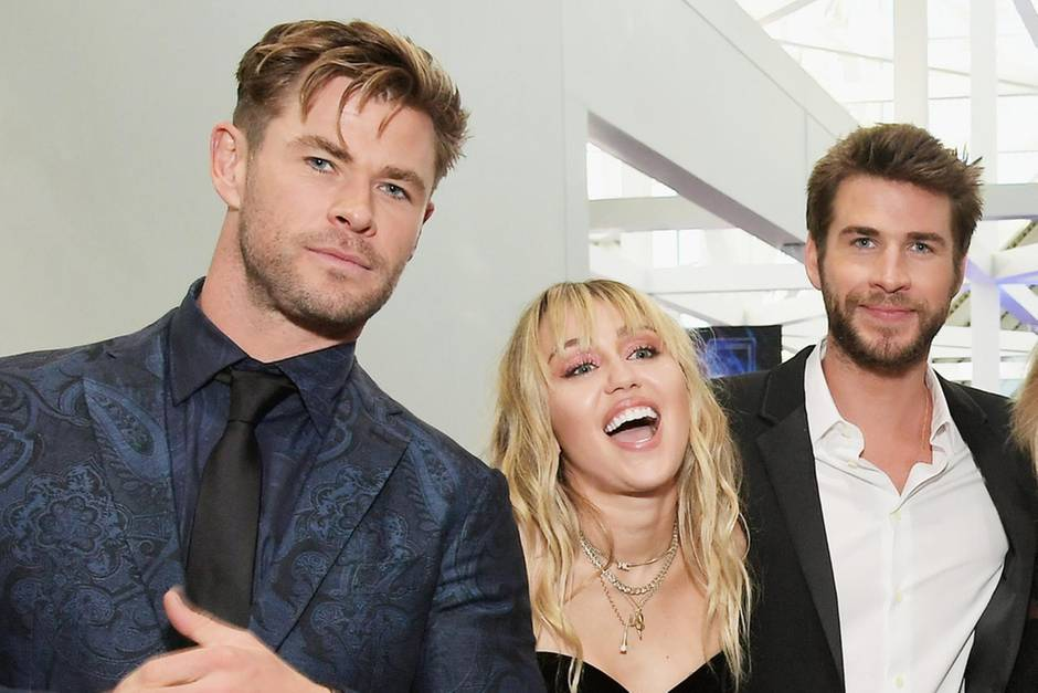 Chris Hemsworth, Miley Cyrus und Liam Hemsworth