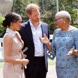 """Prinz Harry + Herzogin Meghan: Am Nachmittag nehmen Herzogin Meghan und Prinz Harry am """"Creative Industries and Business""""-Empfang teil. Ein besonderes Highlight ist dabei das Treffen mit Nelson Mandelas Witwe Graca Machel."""
