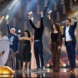Das Pastewka-Ensemble freut sich über den Sonderpreis.