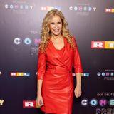RTL-Moderator Katja Burkard präsentiert sich im stylischen Leder-Look.
