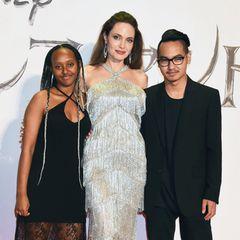 """3. Oktober 2019  Die drei feiern dort die Japan-Premiere von """"Maleficent2"""""""