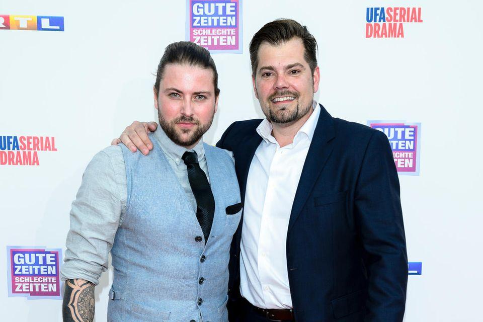 Felix von Jascheroff und Daniel Fehlow beim 25-jährigen Jubiläum von Gute Zeiten, Schlechte Zeiten in Berlin