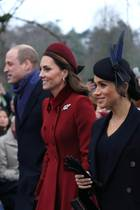 v.l.: Prinz William, Herzogin Catherine, Herzogin Meghan und Prinz Harry