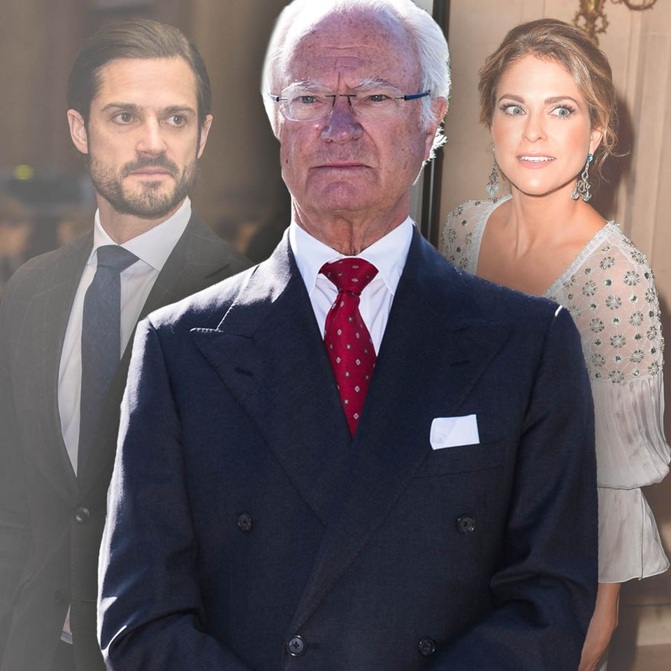 Prinz Carl Philip, König Carl Gustaf, Prinzessin Madeleine,
