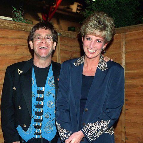 Elton John und Lady Diana