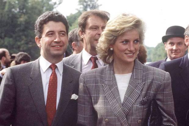 Patrick Jephson und Prinzessin Diana im September 1989 bei einem Termin.