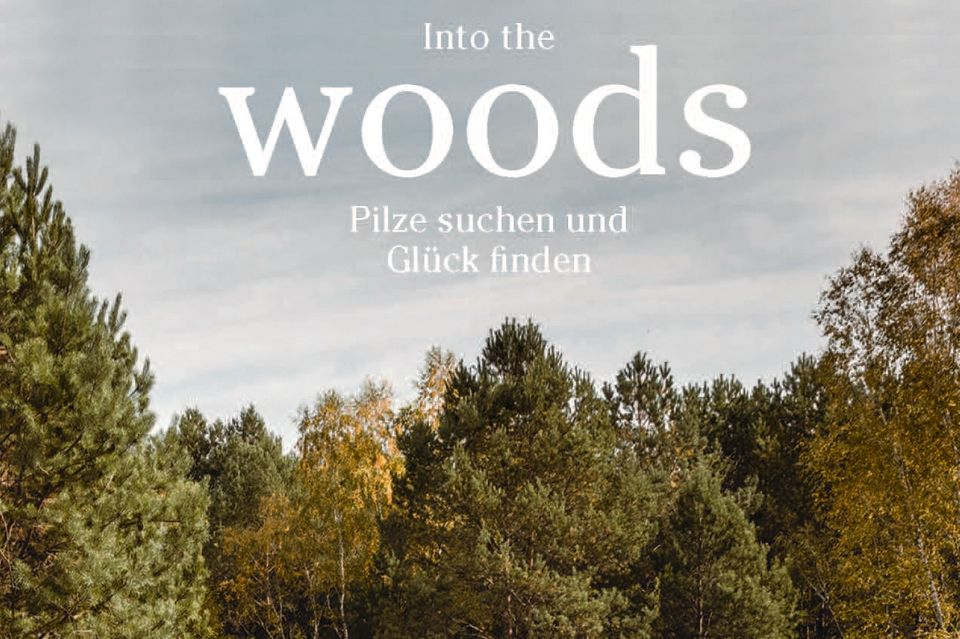 """Moritz Schmid vereint hier alles, was mit dem Sammeln von Pilzen verbunden ist: atmosphärische Bilder vom Glück im Wald, kenntnisreiche Texte zu Speisepilzen und einen bunten Strauß kreativer Rezeptideen. (""""Into the Woods"""", Prestel Verlag, 176 S., 32 Euro)"""