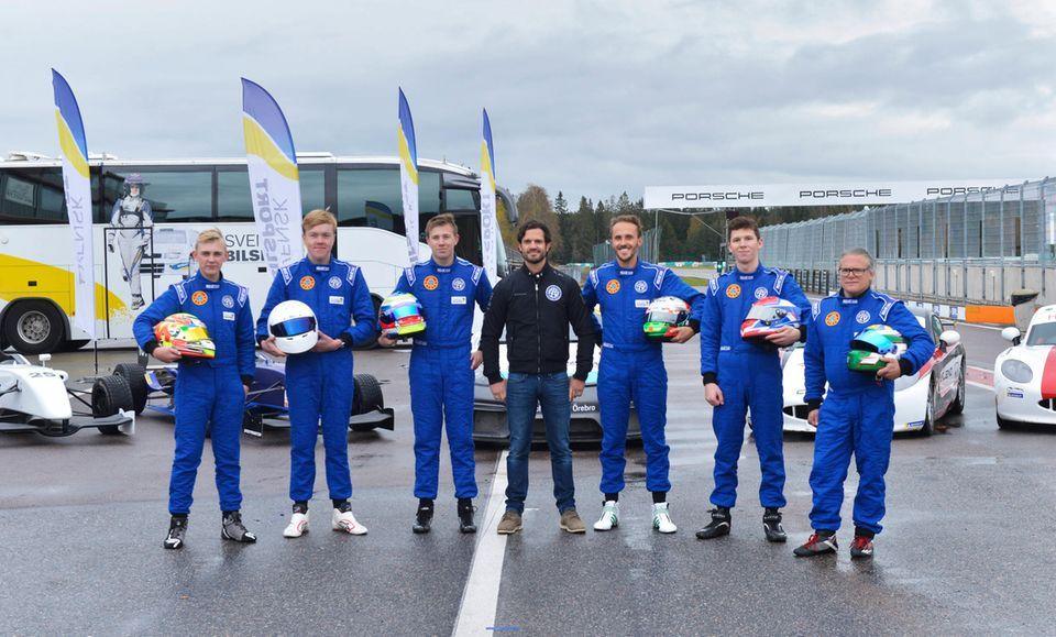8. Oktober 2019  Prinz Carl Philipnimmt am Testtag und der Preisverleihung des nach ihm benannten Racing Pokals im schwedischen Karlskoga teil.