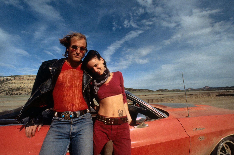 """1994 spielen Woody Harrelson und Juliette Lewis in """"Natural Born Killers"""" von Regisseur Oliver Stone das attraktive Killerpärchen Mickey und Mallory."""
