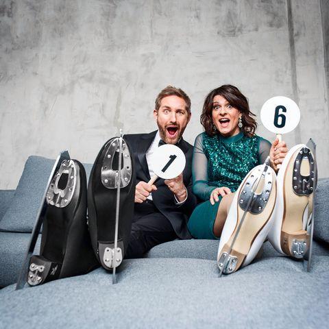 """Daniel Boschmann und Marlene Lufen präsentieren """"Dancing on Ice""""."""