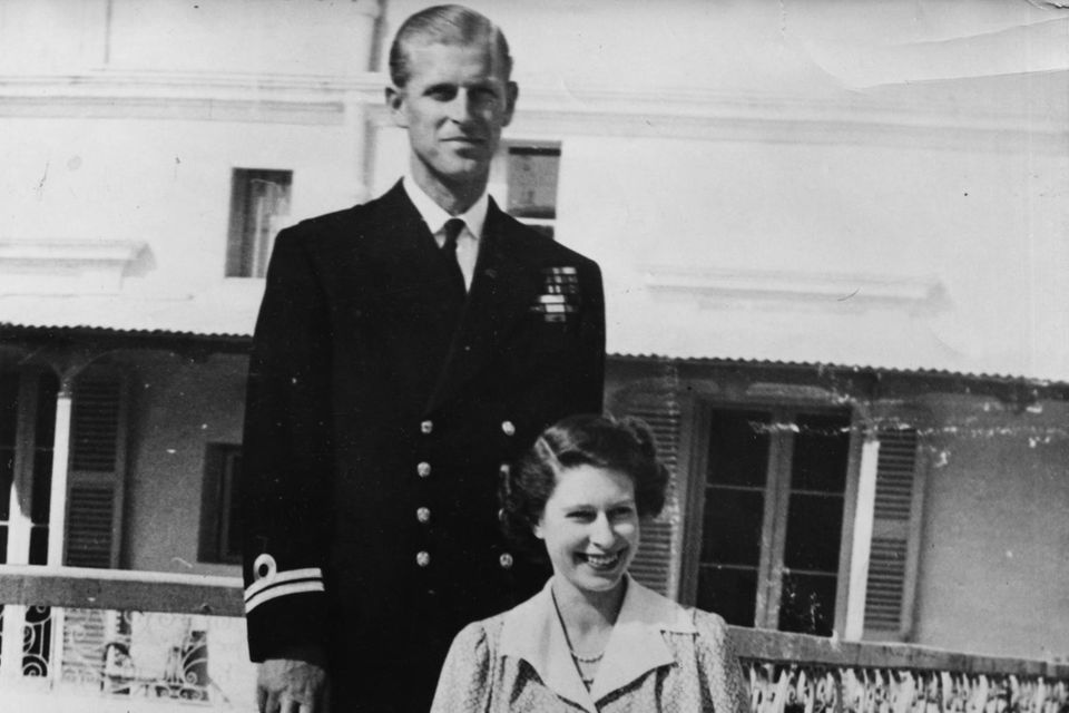Prinz Philip und Prinzessin Elizabeth - die spätere Queen - im April 1950 auf Malta.
