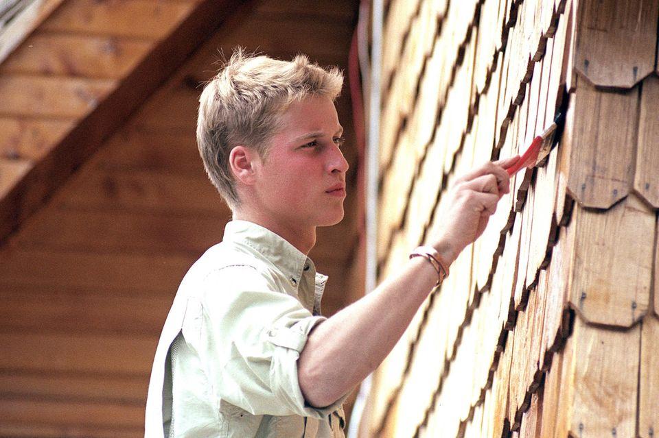 Prinz William packte im Jahr 2000 in Chile an und verschönerte im Dörfchen Tortel im Süden des Landes ein Haus.