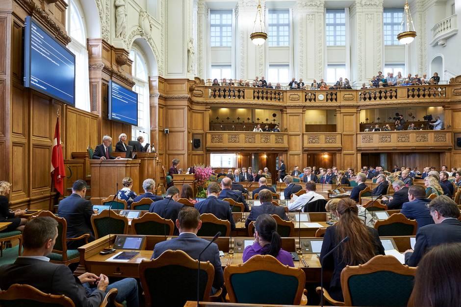 Das dänische Parlament bei einer Sitzung