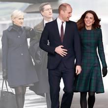 Catherine Quinn (l.) und Simon Case (2.v.l.) gehören zum Team von Prinz William und Herzogin Catherine