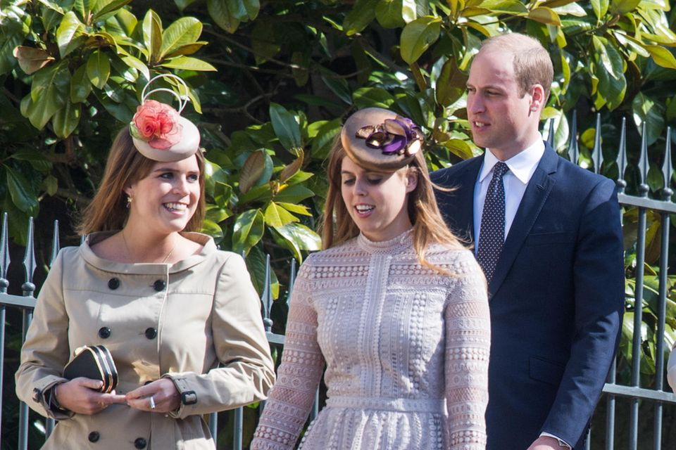 Prinzessin Eugenie, Prinzessin Beatrice und Prinz William