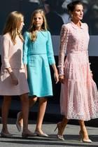 Königin Letizia mit Prinzessin Leonor und Prinzessin Sofia