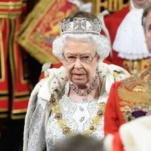 Queen Elizabeth am 14. Oktober 2019 bei der Eröffnung des Parlaments.