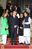 Herzogin Catherine, Prinz William + Imran Khan
