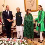 15. Oktober | Tag 2  William und Kate treffen im Palast außerdem Pakistans Präsident Dr. Arif Alvi und seine Frau Samina. Danach nehmen sich die Royals nach einem geschäftigen Morgen und Mittag eine kleine Auszeit.
