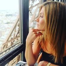 Als Justin Theroux und Jennifer Aniston im Februar 2016 noch ein Paar waren, entstand dieses romantisch-sehnsüchtigeBild von Jen auf dem Eiffelturm selbst.