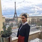 Jessica Alba kommt gerne für die Fashion Week in die Stadt und um schöne Bilder mit dem Eiffelturm zu machen.