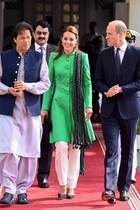 Pakistans Premierminister Imran Khan, Herzogin Catherine und Prinz William