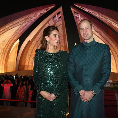Herzogin Cather und Prinz Willian am 15. Oktober 2019 in Pakistan.