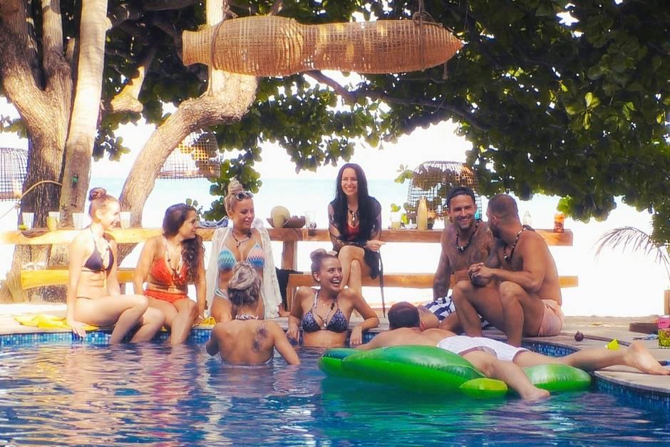 V.l.: Isabell, Meike, Jade, Michelle, Julia, Sarah, Marco, Filip und Serkan