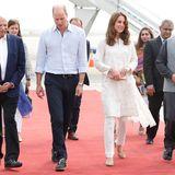 Prinz William und Herzogin Catherine bei ihrer Ankunft in Lahore, Pakistan.